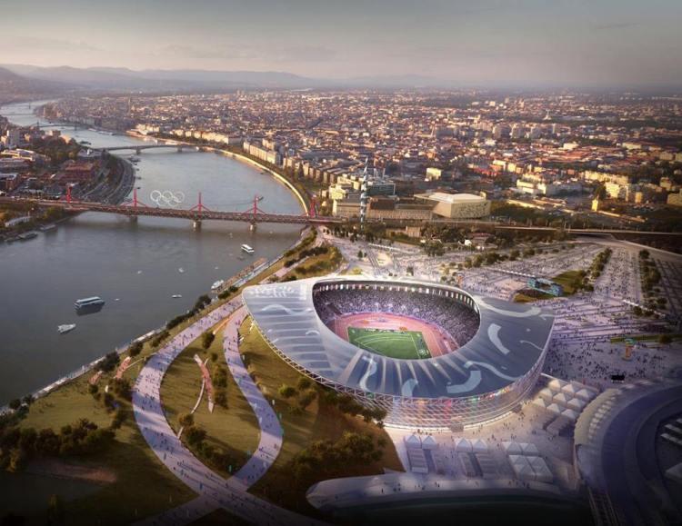 Visuel du Stade Olympique (Crédits - Budapest 2024 / Brick Visual)