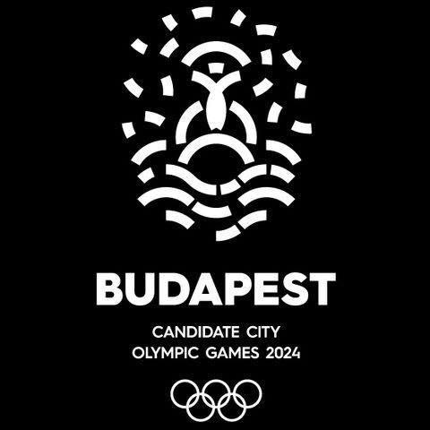 Le logo de la candidature a été repensé ce mercredi soir et apparaît désormais sur fond noir (Crédits - Budapest 2024)