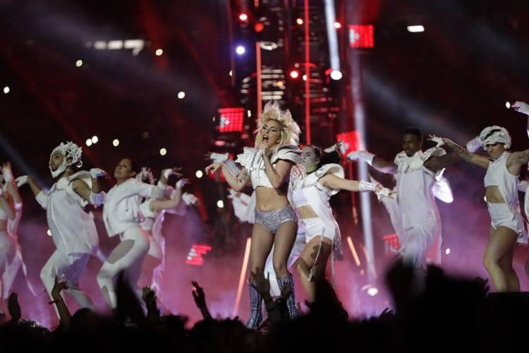 Lady Gaga a frôlé la performance lors du halftime show, avec plus de 117,5 millions de téléspectateurs (Crédits - Terrell Lloyd / NFL)