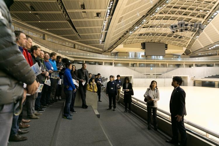 Visite des délégations au Tokyo Metropolitan Gymnasium (Crédits - Tokyo 2020 / Uta Mukuo)