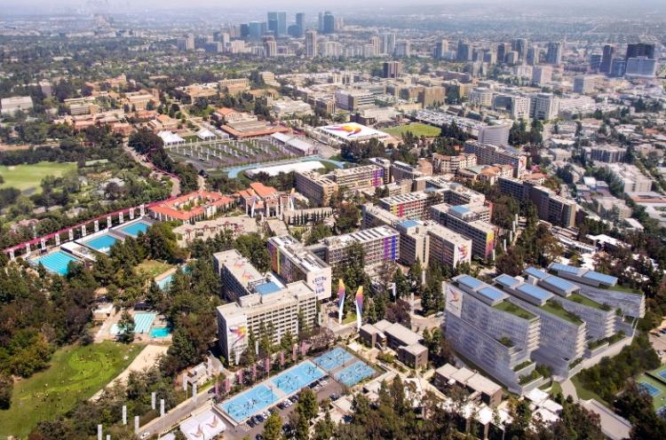 Visuel du campus de l'Université de Californie à Los Angeles remanié en Village des Athlètes le temps des Jeux (Crédits - LA 2024)