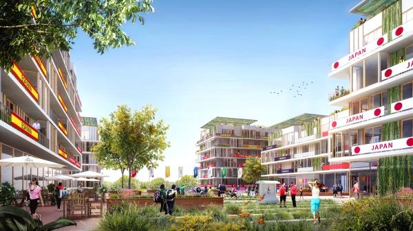 Visuel du Village Olympique et Paralympique (Crédits - Paris 2024 / Luxigon / DPA)