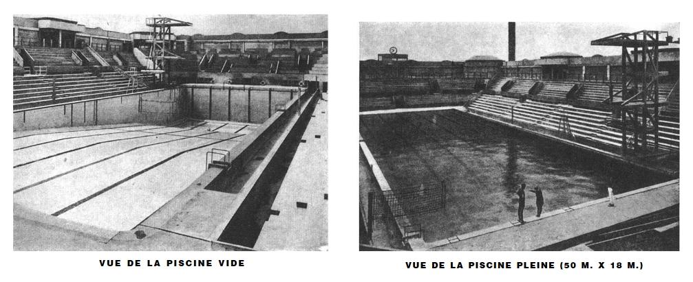 Les anneaux olympiques sur la fa ade de la piscine georges for Piscine georges drigny
