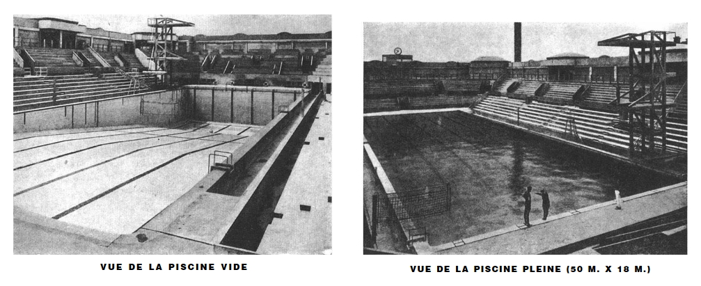 The olympic rings on the georges vallerey swimming pool for Piscine georges vallerey