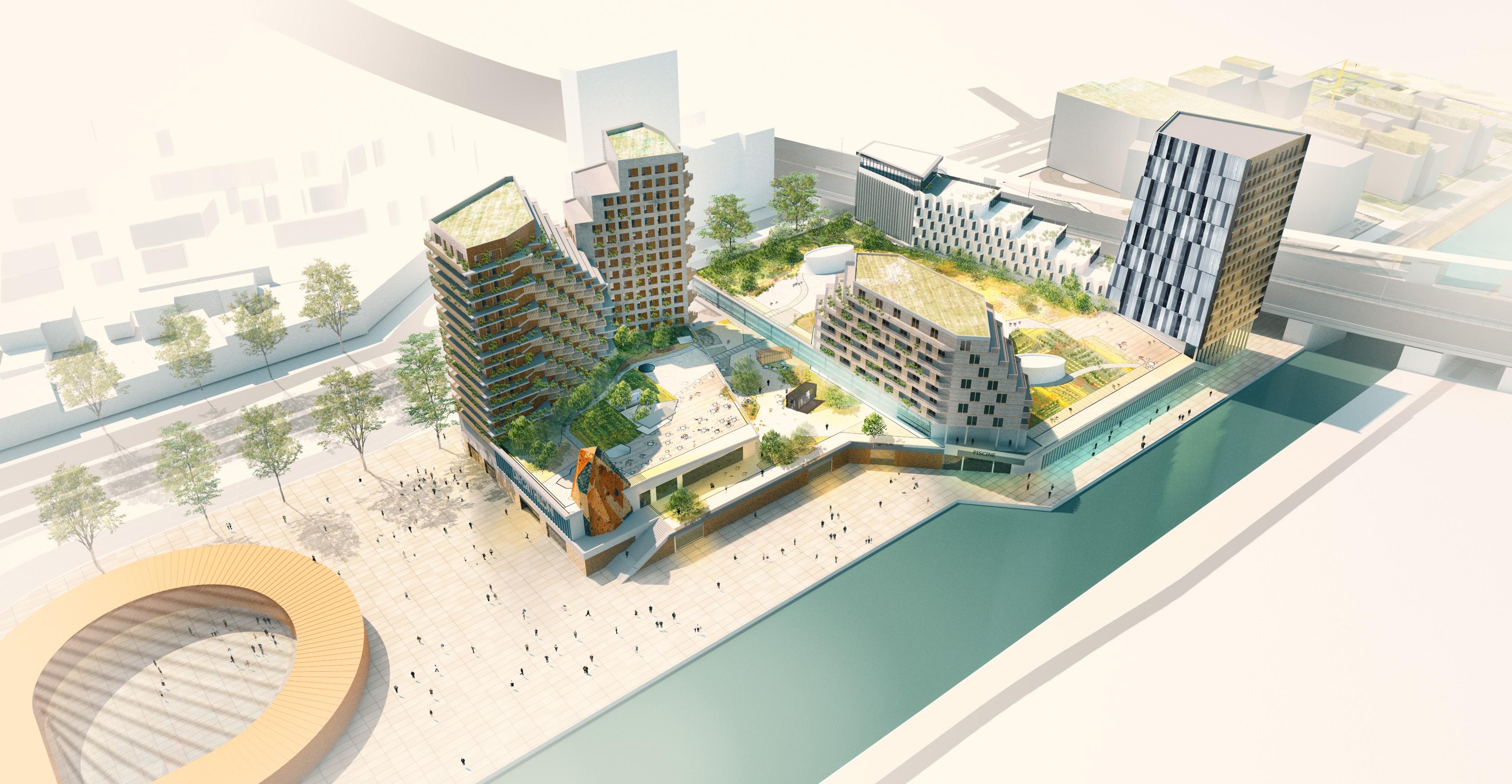 paris 2024 : le futur centre aquatique du pont de bondy se